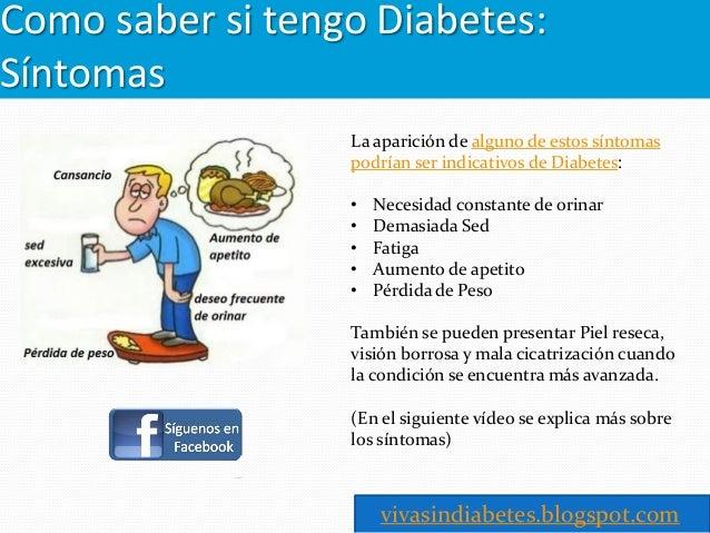 Como saber si tengo diabetes