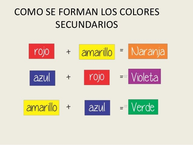 Como se forman los colores secundarios for Como se cocinan los percebes