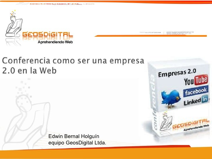 Edwin Bernal Holguín equipo GeosDigital Ltda.