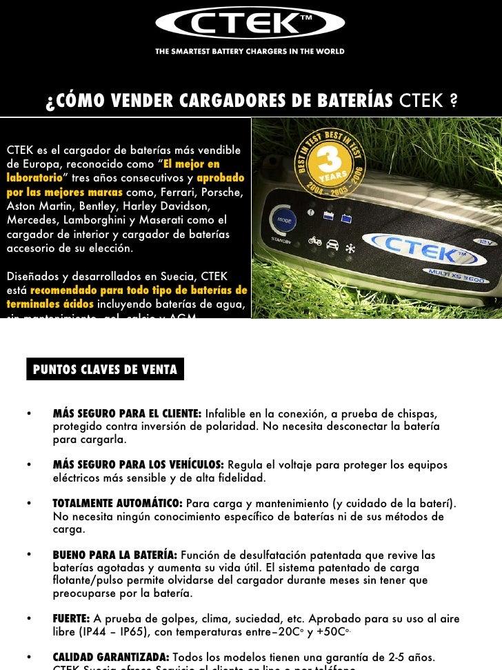"""CTEK es el cargador de baterías más vendible de Europa, reconocido como """" El mejor en laboratorio """" tres años consecutivos..."""