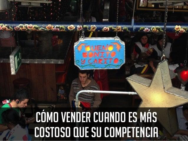 www.bienpensado.com CÓMO VENDER CUANDO ES MÁSCOSTOSO QUE SU COMPETENCIA