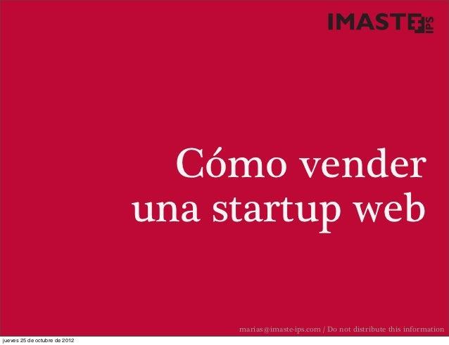 Como vender una startup web