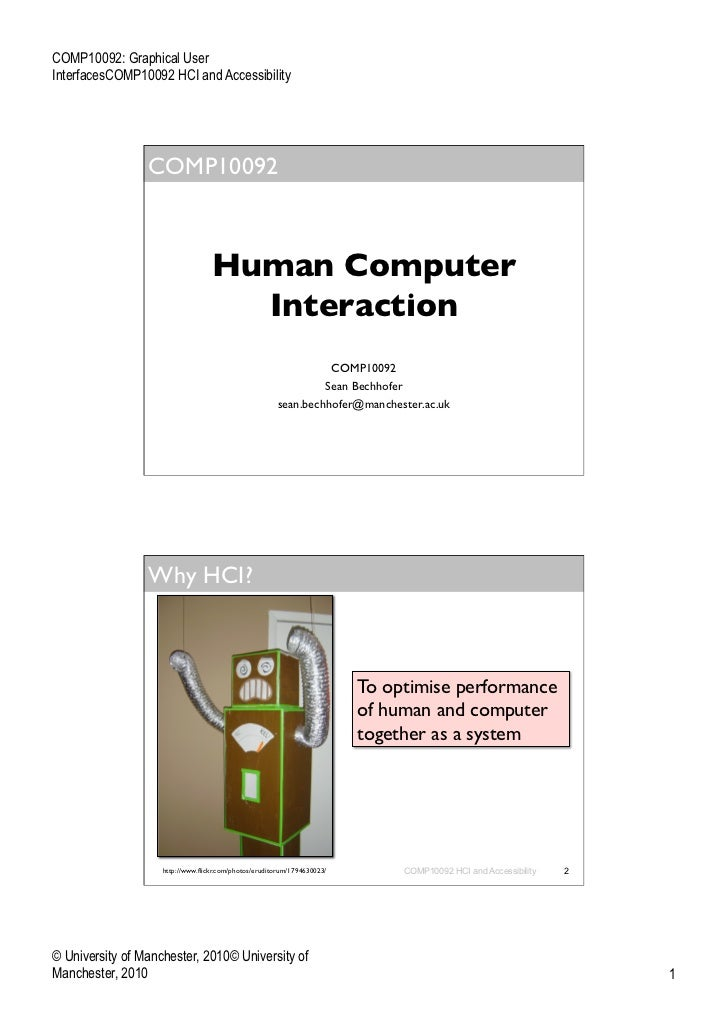 COMP10092: Graphical UserInterfacesCOMP10092 HCI and Accessibility                 COMP10092                              ...