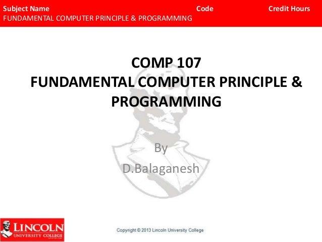 Comp 107chp 1