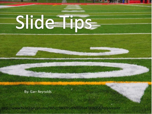Garr Reynolds top 10 slides presentation