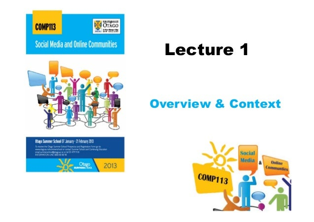 Lecture 1The Course