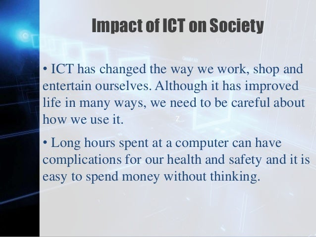 """information communication technology ict has revolutionized education essay Information and communication technology (ict) means getting information and  other facilities from the  impaired students in an essay  """"the need for  ict  could in some ways revolutionize processes at school have not been realized."""