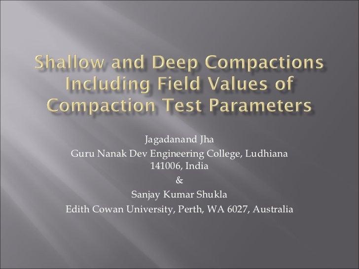 Jagadanand Jha Guru Nanak Dev Engineering College, Ludhiana                 141006, India                       &         ...