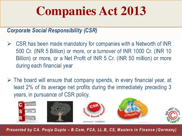 Stock options companies act 2013