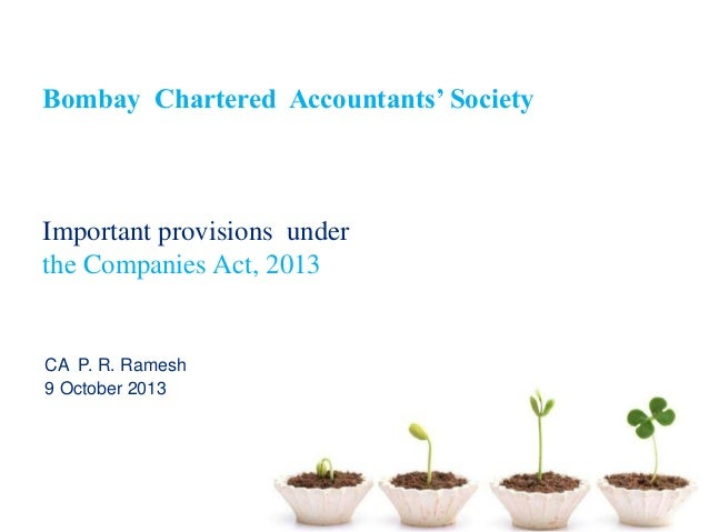Companies act, 2013  excellent slide - highlights151-lm companies-act9oct13