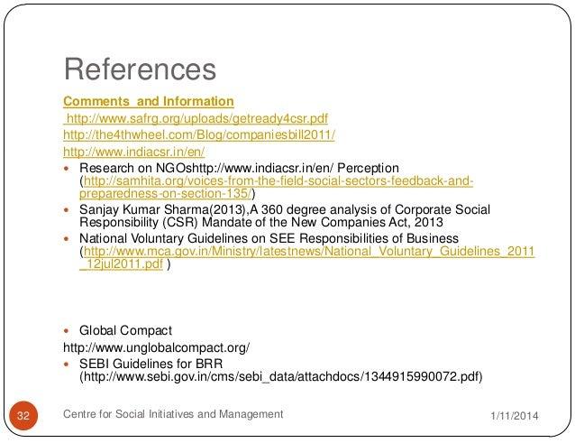 csr references