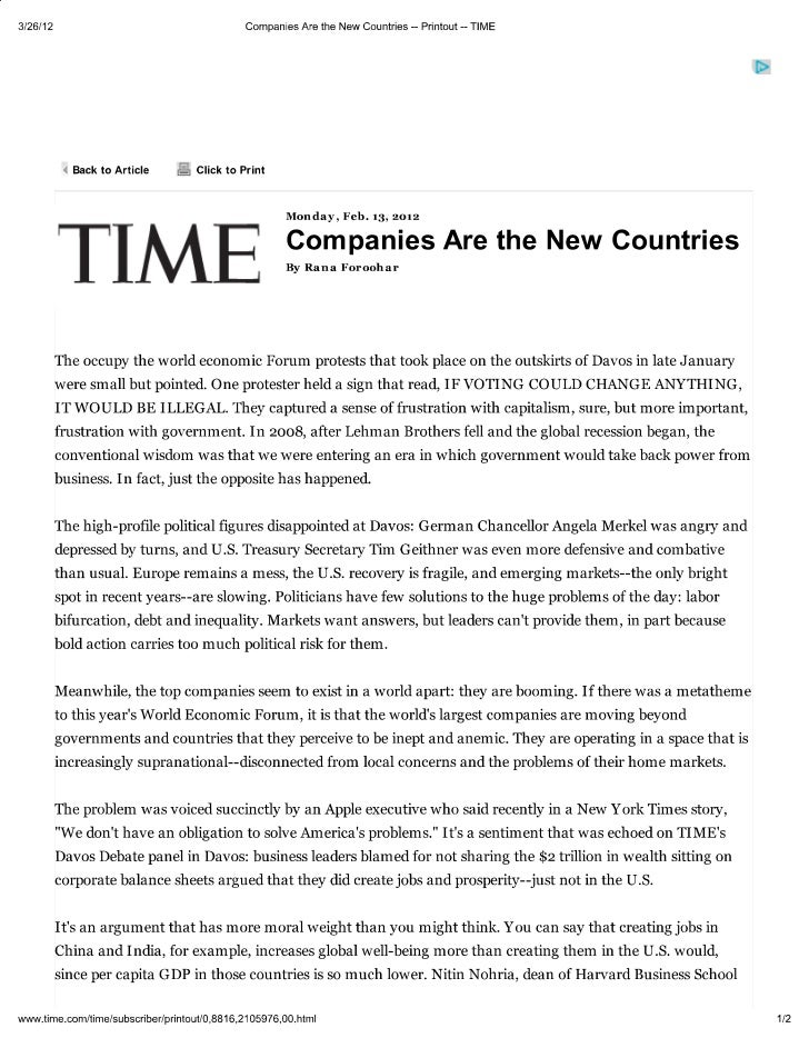 Companies are the new countries