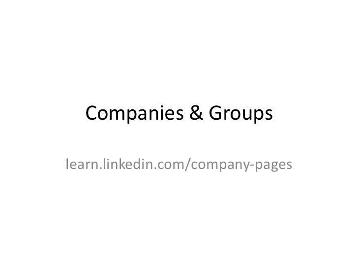 Companies & groups