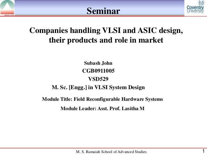 Companies handling VLSI and ASIC design