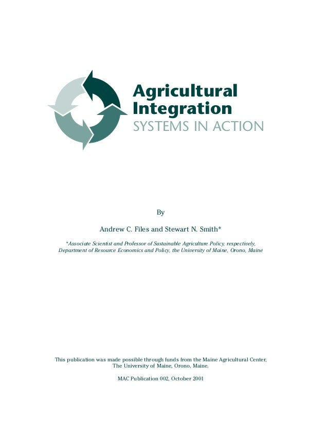 Agricultural Integration Systems in Action - the University of Maine