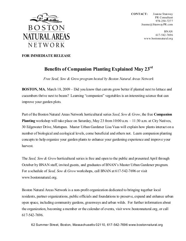 Benefits of Companion Planting Explained - Boston Natural Areas Network