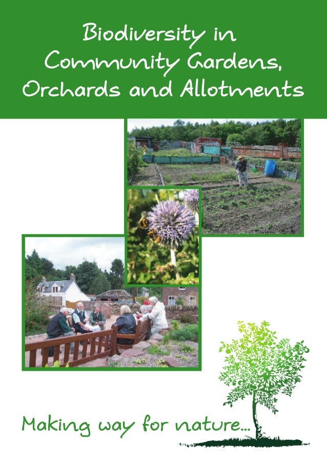 Biodiversity in Community Gardens, Orchards and Allotments - Dundee, Scotland