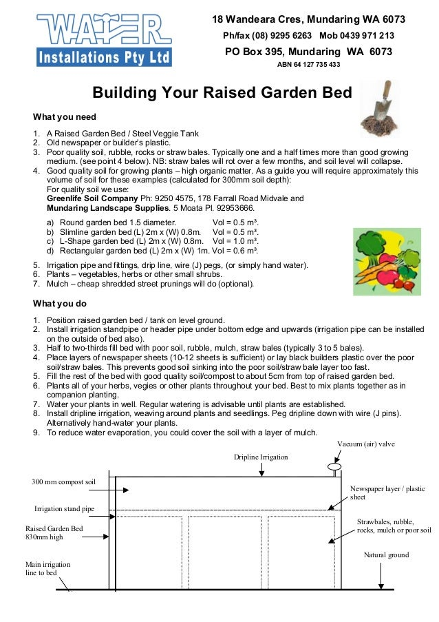 Building Your Raised Garden Bed - Greywater Reuse Systems
