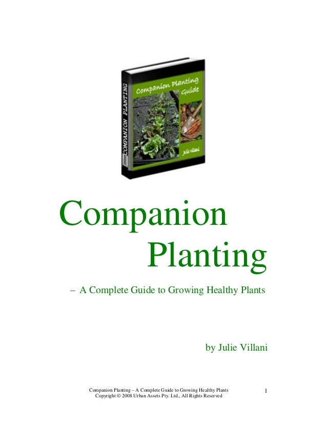 Companion    Planting– A Complete Guide to Growing Healthy Plants                                                        b...