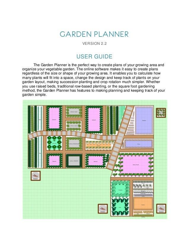 GARDEN PLANNER                                   VERSION 2.2                                USER GUIDE       The Garden Pl...
