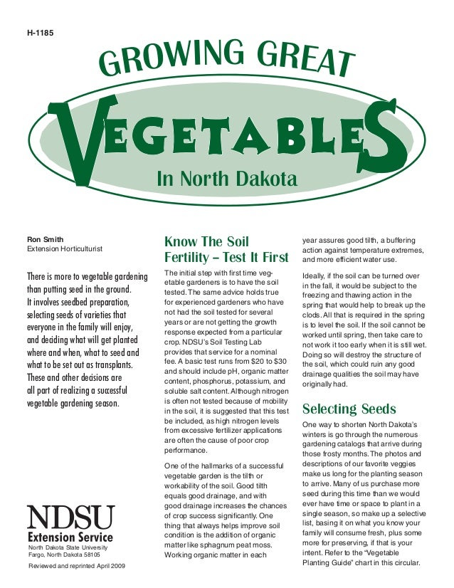 Companion Plantings and Growing Great Vegetables in North Dakota