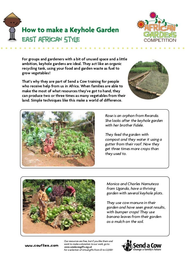 How to Make a Keyhole Garden: East African Style - Cowfiles
