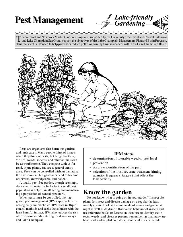 Lake Friendly Pest Management Gardening - University of Vermont