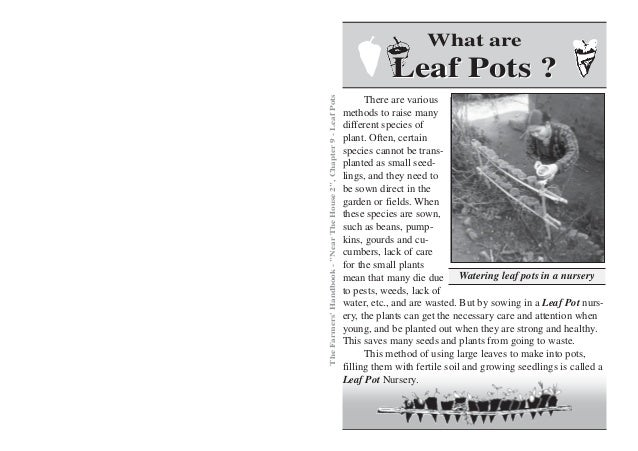 What are                                                                                Leaf Pots ?The Farmers Handbook - ...