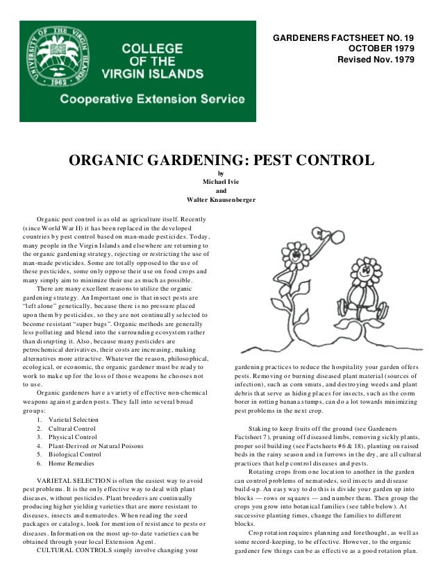 Organic Gardening: Pest Control - College of the Virgin Islands