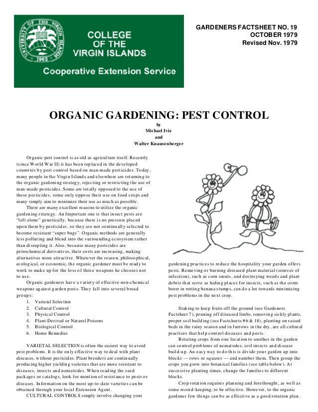 Organic Gardening: Pest Control - College of the Virgin Islands