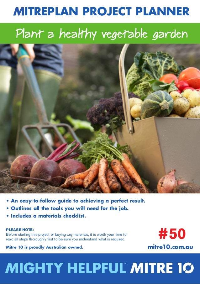 Plant a Healthy Vegetable Garden - Australia