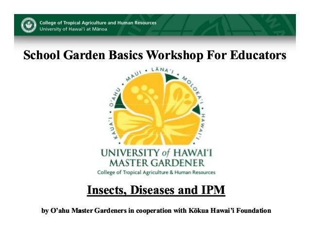 School Garden Basics Workshop For Educators - Hawaii