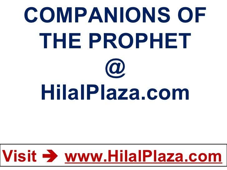 Companions of the prophet islamic-books