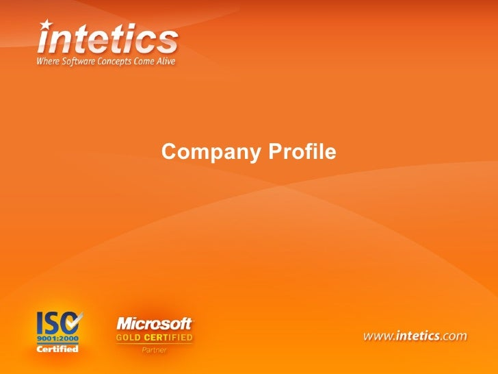 Intetics Company Profile