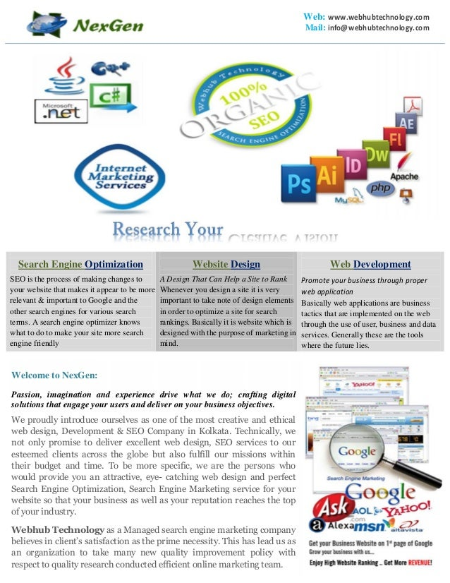 Web: www.webhubtechnology.com Mail: info@webhubtechnology.com Creative Vision Search Engine Optimization SEO is the proces...