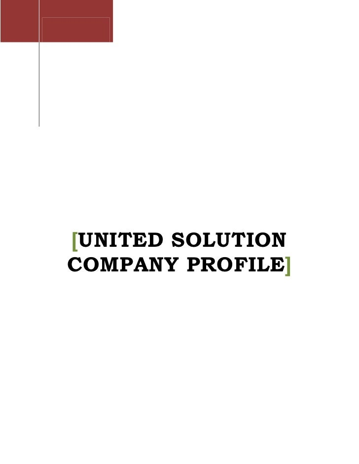 [UNITED SOLUTION COMPANY PROFILE]