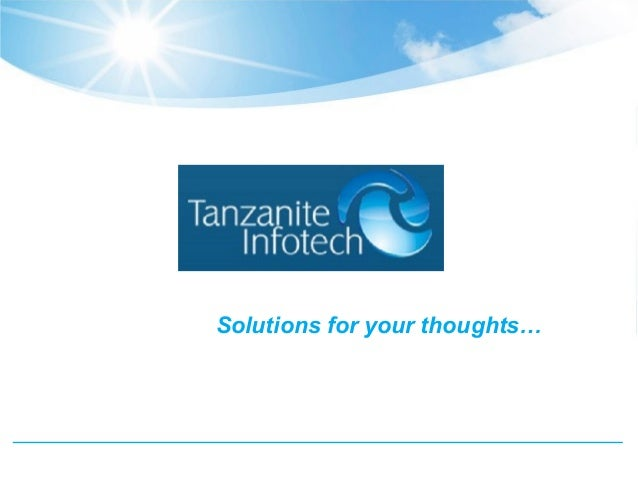 Solutions for your thoughts…