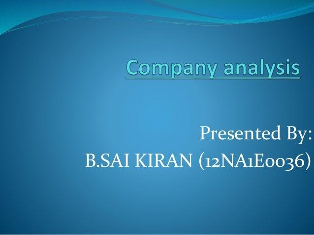 Presented By: B.SAI KIRAN (12NA1E0036)