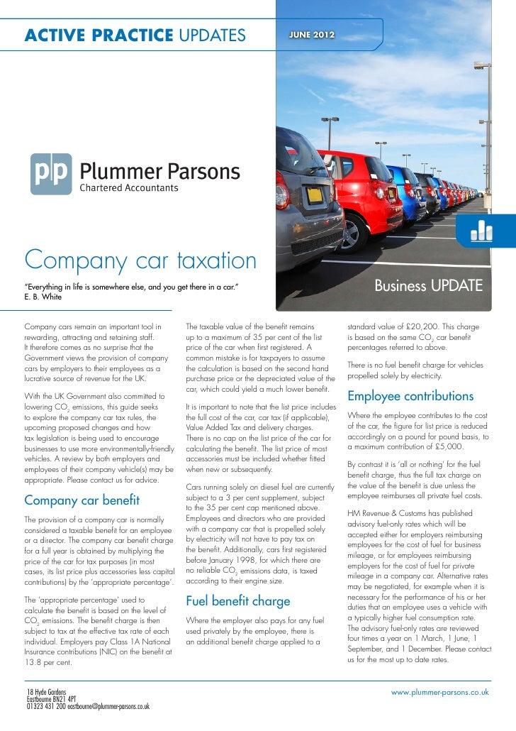 Company Car Taxation - June 2012