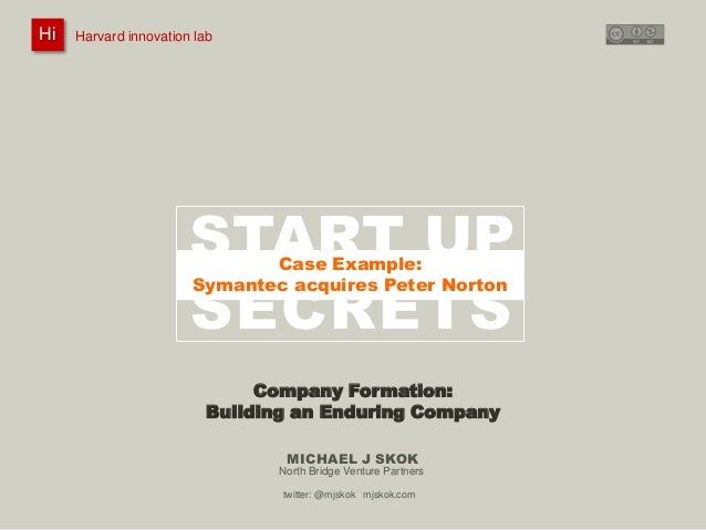 Harvard innovation lab :       Michael J Skok :           Startup Secrets :   Company Formation HiHi    Harvard innovation...
