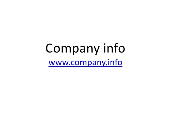 ToelichtingCompany infowww.company.info<br />http://bibliotheek.hszuyd.nl<br />