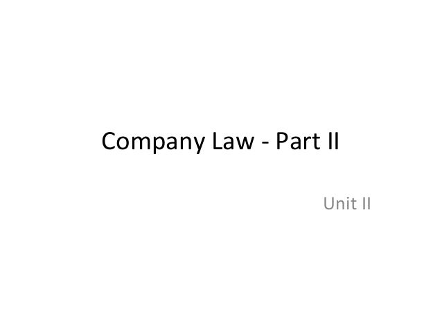Company law   part ii