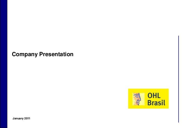 Company Presentation    January 20111