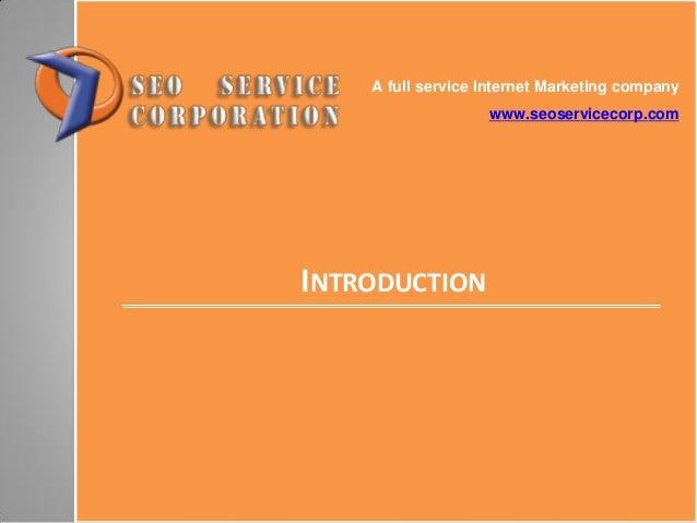 SEO Service Corp - Company presentation