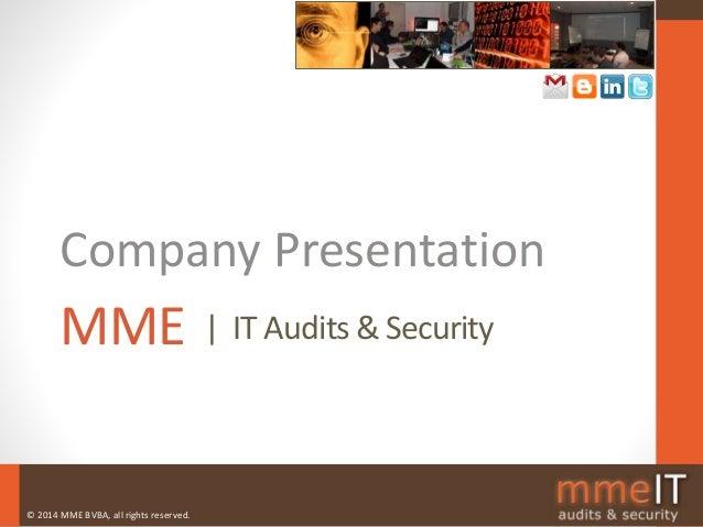 MME Company Presentation