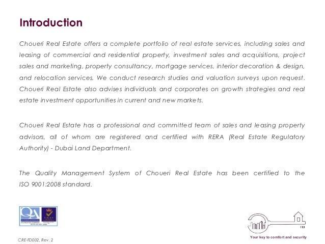 Real Estate Team Profile : Choueri real estate company profile