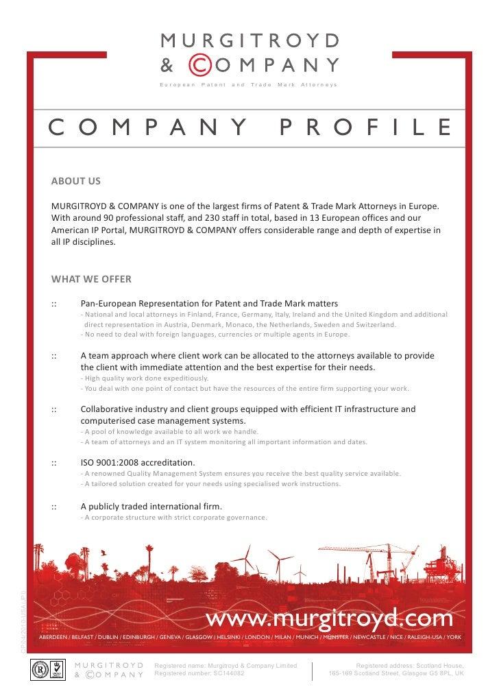 Murgitroyd & Company Profile