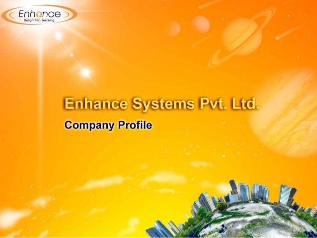 Company profile - www.enhancelearning.co.in