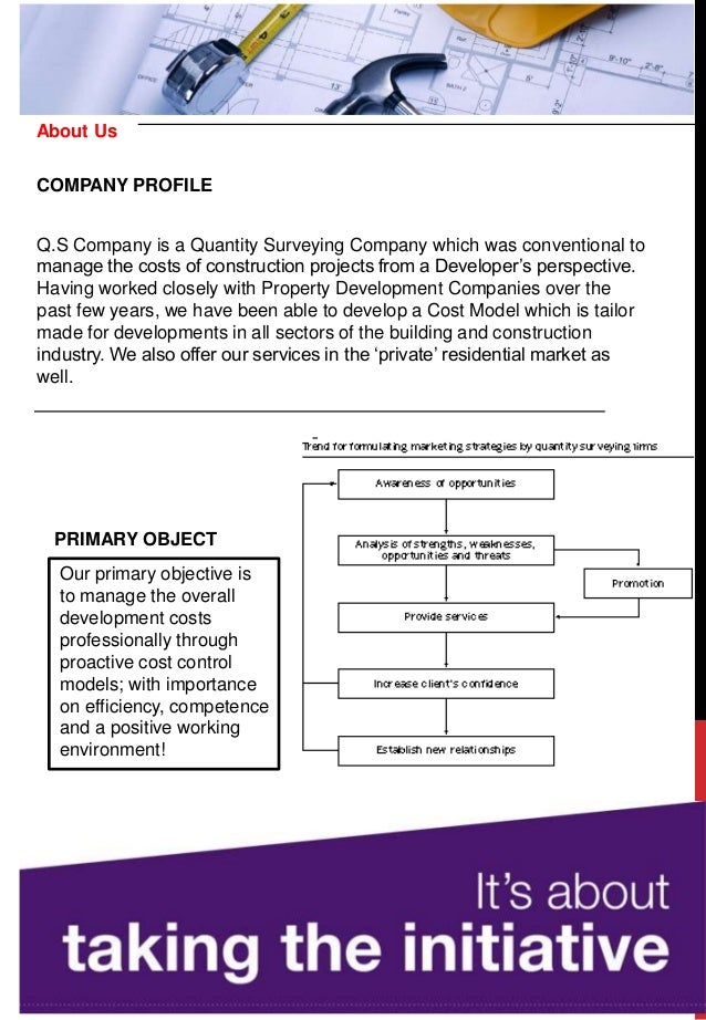 Q.S Company is a Quantity Surveying Company which was conventional to manage the costs of construction projects from a Dev...