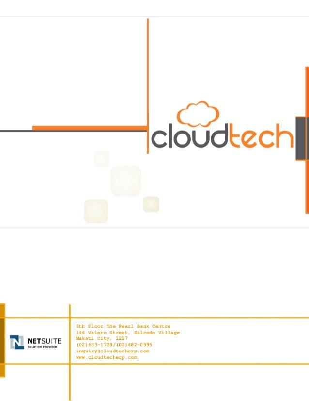 CloudTech NetSuite Company Profile